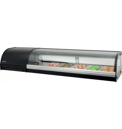 Saro Sushi Anzeige 7x GN1 / 3 | 1800x390x290 (h) mm