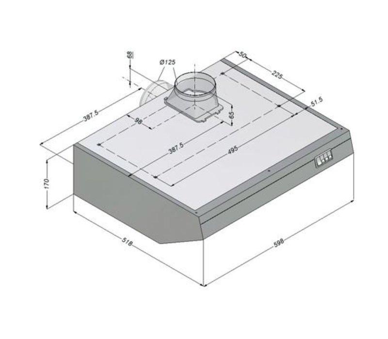Bartscher Novy hood including Motor and Lights | 600x52x (H) 170mm