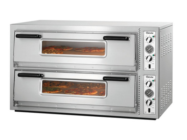 Bartscher Pizza Oven Double Electric | 2 x 6 pizzas Ø30cm | 400V | 12kW | 1210x830x (H) 770mm
