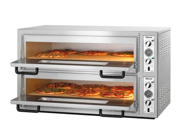 Bartscher Pizza-Ofen Doppel Electric | 2 x 6 Pizzen Ø30cm | 400V | 12kW | 1210x830x (H) 770mm