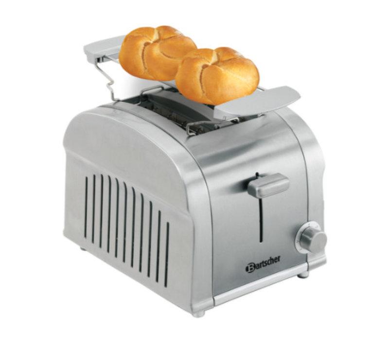 Bartscher 2 Scheiben Toaster mit herausnehmbaren Krümelschublade - 19x26,5x (H) 19.5 cm - 850W