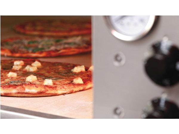 Bartscher Pizzaofen Elektroeinzel | 9 Pizzen 33cm | 400V | 12kW | 1310x1270x (H) 420mm