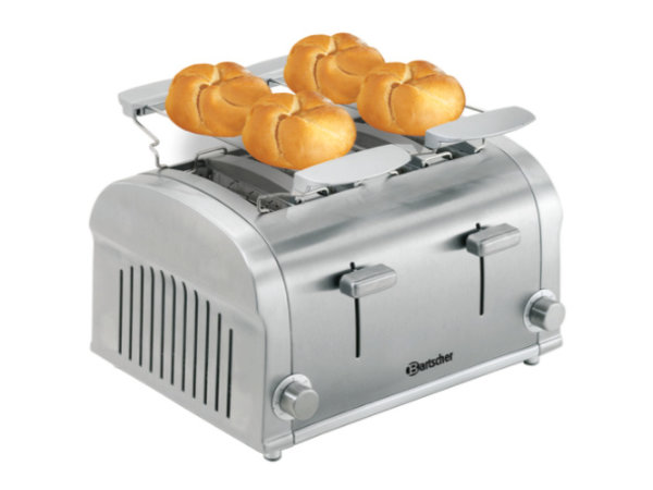 Bartscher 4 slices toaster with 2 removable crumb trays - 32x27x (H) 19,5cm - 1400W