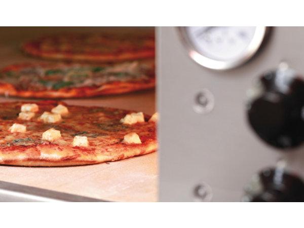 Bartscher Pizza-Ofen Doppel Electric | 2 x 9 Pizzen Ø33cm | 400V | 24kW | 1310x1270x (H) 760mm