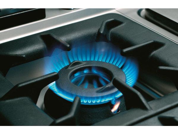 Bartscher Gasfornuis 6 Pits + Gasoven 2/1 GN | Serie 700 | 1200x700x(H)850-900mm