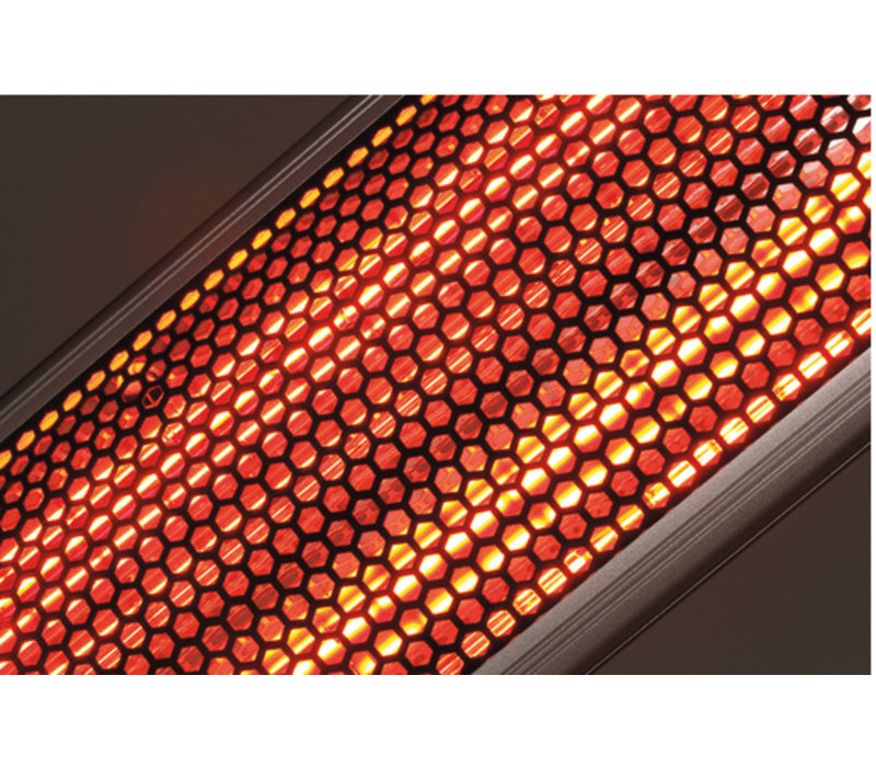 Bartscher Elektrische Infrarot-Strahler | Aluminium | 3 Einstellmöglichkeiten | Inkl. Fernbedienung