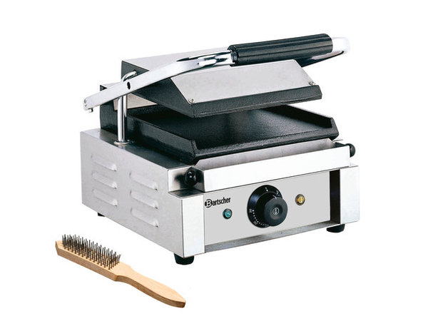 Bartscher Elektrische contact grill - Glad/Glad - 29x37x(h)20 - 1800W