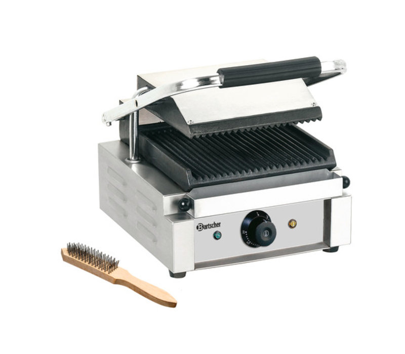 Bartscher Electric contact grill - Ribbed / Ribbed - 29x37x20 (h) 1800W