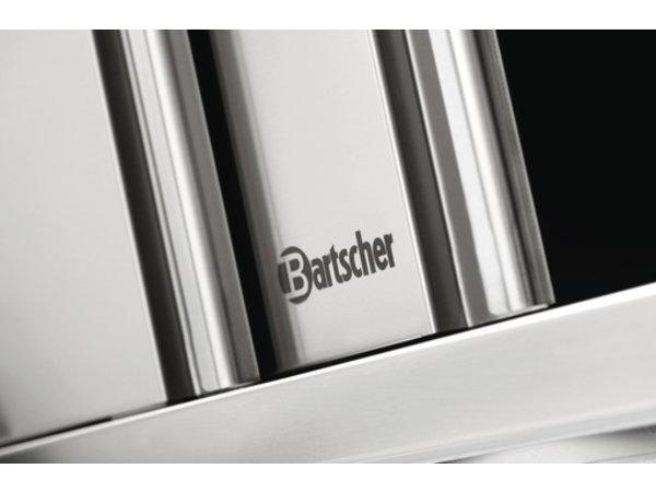 Bartscher Wardrobe Stainless Steel - with 2 Sliding doors - Between 1 Adjustable Shelf   1800 (B)   400 (D)   660 (H) mm
