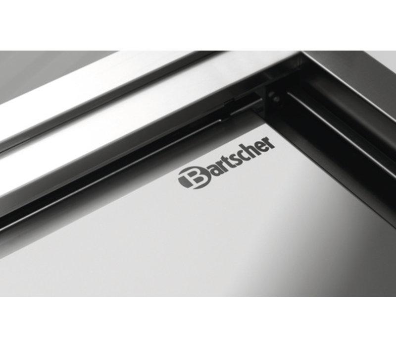 Bartscher RVS Werkkast met Schuifdeuren + Tussenschap | 1200x700x(h)850mm