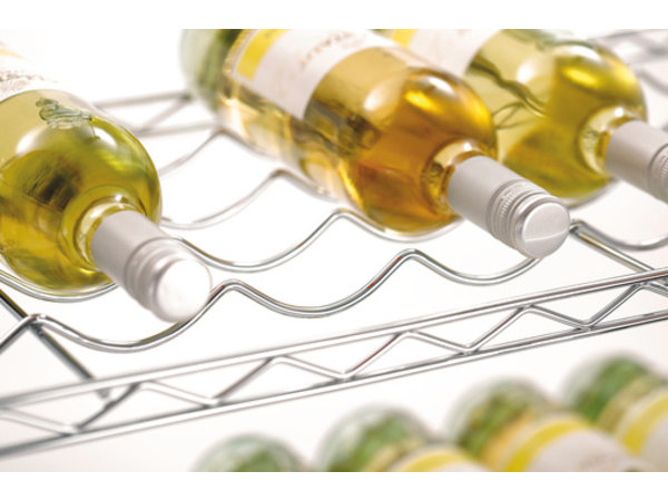 Bartscher Basic Wine Rack - Chrome - 900x350x1390 mm