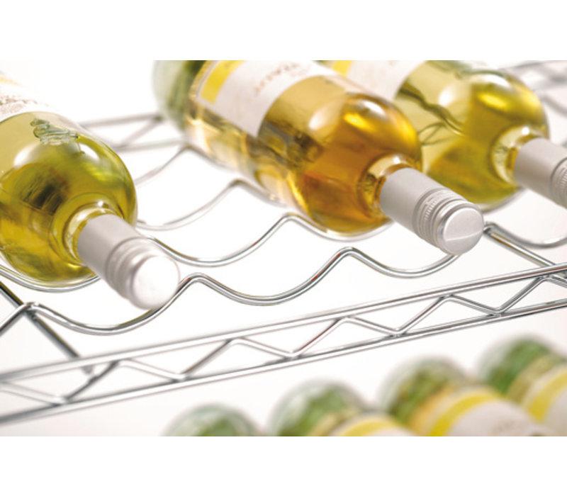Bartscher Wijnrek Basic - Verchroomd - 900x350x1390 mm
