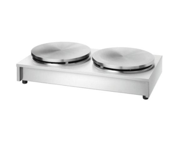 Bartscher Dubbele Crepes Bakplaat op Gas | 2 x 6kW / 400 mm diameter