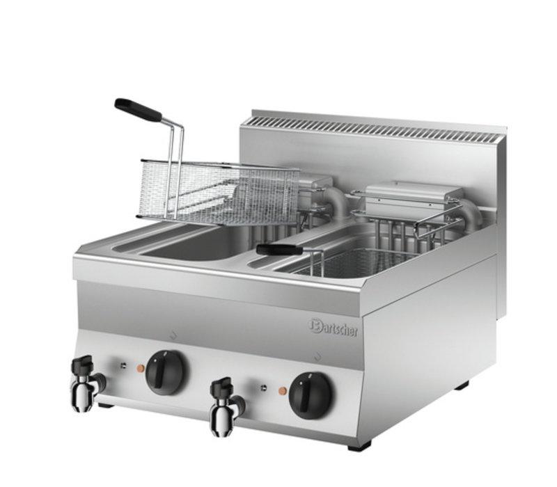 Bartscher Friteuse Elektrisch   Met Uitklapbaar Verwarmingselement   400V   18kW   2x10 Liter   600x650x(H)295mm
