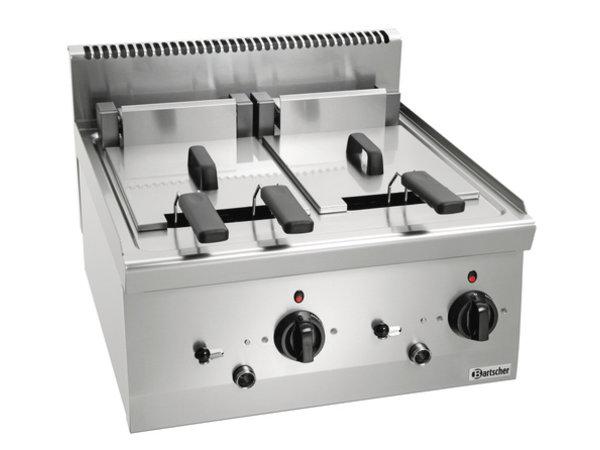 Bartscher Elektrische Friteuse | Met Uidraaibaar Verwarmingselement | 2x8 Liter | Serie 600 | 400V | 12,6kW | 600x600x(H)290 mm