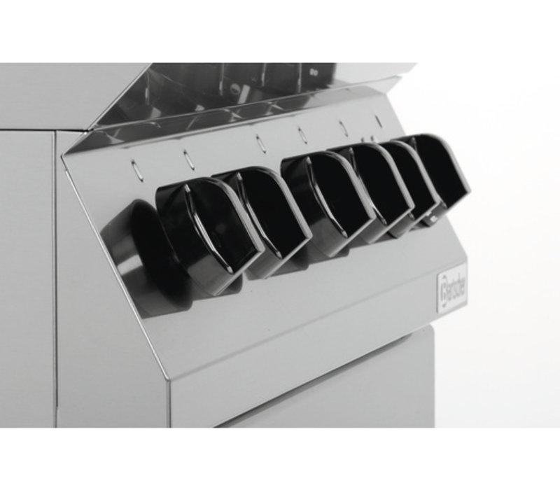 Bartscher Gasherd mit 4 Brennern und Backofen elek 2/1 GN | 400V | 800x700x (H) 910mm