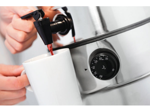 Bartscher Glühweinkessel | Edelstahl-Gehäuse | Temperaturregler | Ø220 mm | 7 Liter