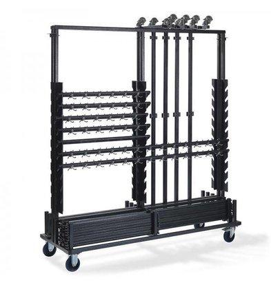 XXLselect Trolley für garderoberek BIG | 10 Racks | 1860x605x2010 (h) mm