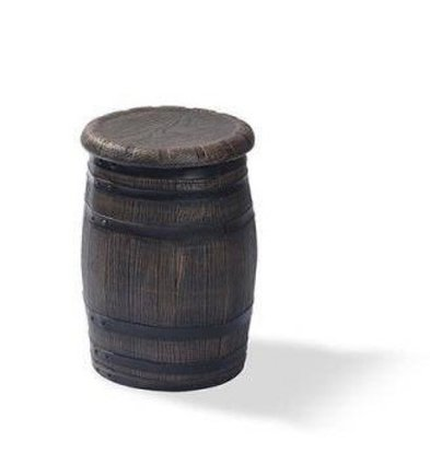 XXLselect Barrel Barhocker Low | Ø400x550 (h) mm | Pro 4 Stück