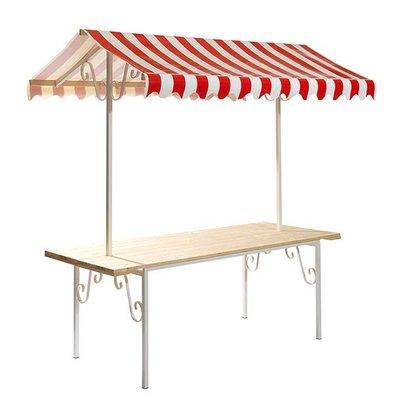 XXLselect Französisch Stall komplett | Dach Rot / Weiss | 2050x800x2200 (h) mm
