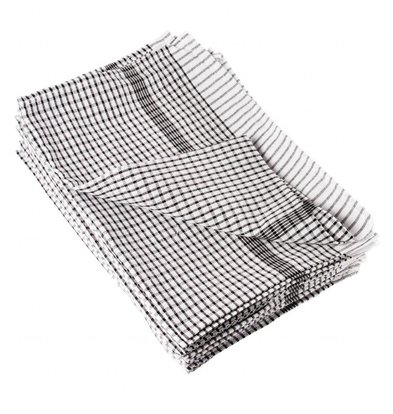 Vogue 10x Tea Towels 100% Cotton and checkered - Price per 10 pieces - four colors - 76,2x50,8 cm - XXL OFFER!