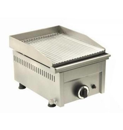 Saro grill Bakplaat Gas Gegroefd - 33,5x46x(H)25 cm - 4 Kw