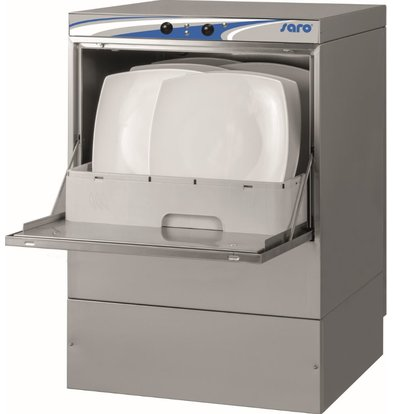 Saro Dishwasher Hospitality Double walled | MADE IN EUROPE | 50x50cm | Naglans + Soap dispenser + Drain pump + Soil filter | 230V