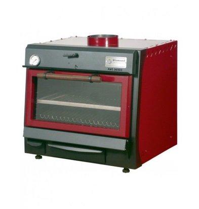 Diamond Houtskool Oven - BBQ | GN1/1 | 60kg/uur | 706x613(925)xh690mm