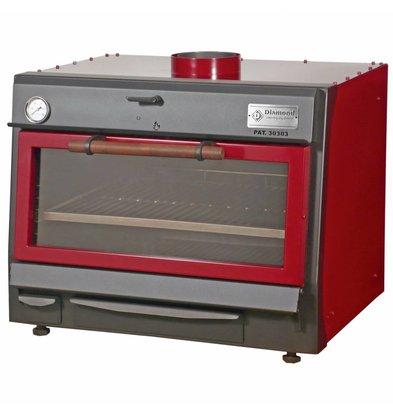 Diamond Charcoal Oven - BBQ | GN1 / 1 + GN2 / 4 | 75kg / h | 800x675 (990) xh690mm