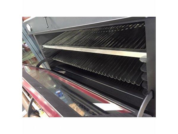 Diamond Houtskool Oven - BBQ | GN2/1 +GN1/1 | 150kg/uur | 1200x733(1176)xh870mm