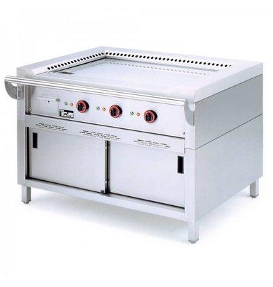Diamond Teppanyaki Grill Elektrische 3 x 3,5 KW met Onderstel - 144x77x85cm