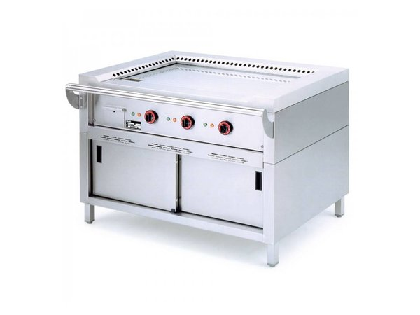 Diamond Teppanyaki Grill Electric 3 x 3.5 KW with Mount - 120x77x85cm