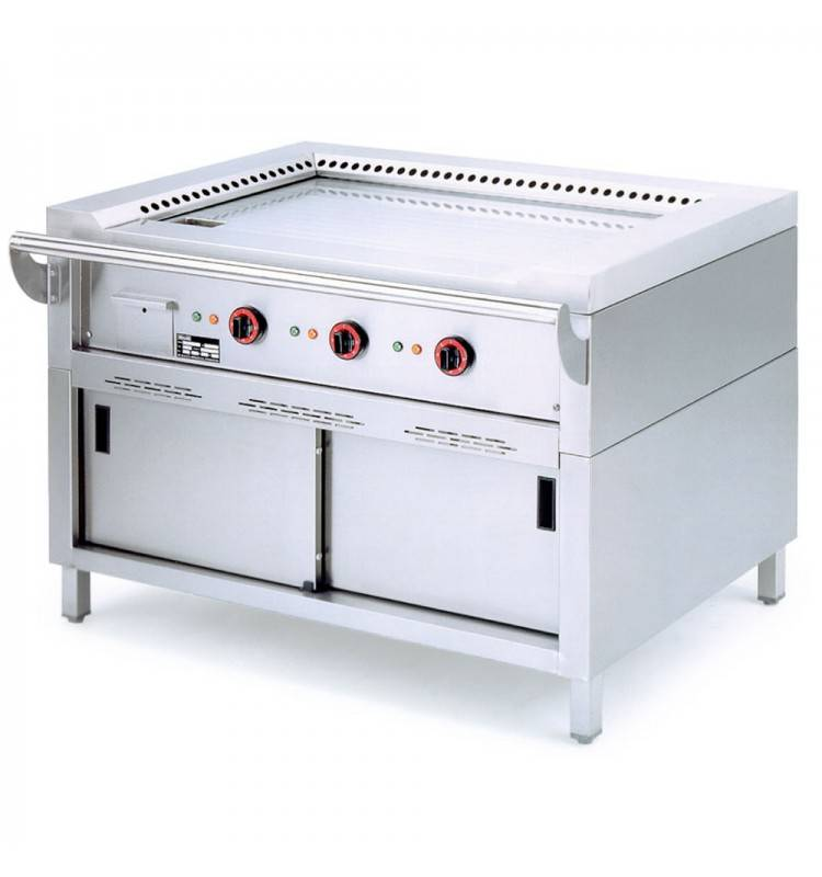 Diamond teppanyaki grill gas 3 x 5 kw with mount 144x77x85cm for Teppanyaki grill gas