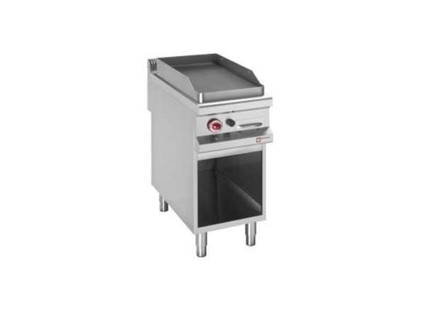 Diamond griddle | gas | Ribbed Plate | Open Cupboard | 400x900 (h) 850 / 920mm