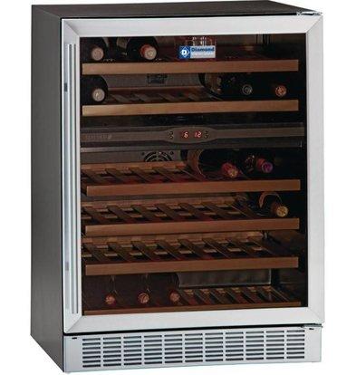 Diamond Weinklimaschrank Belüftet | 160 Ltr | 2 Die Temperaturen | 595x570x820 (h) mm