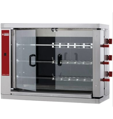 Diamond Chicken Grill Vitroceramic - 3 Spikes - 14.4kW - 1098x480xh820mm