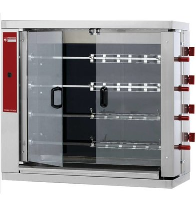 Diamond Chicken Grill Vitroceramic 4 Spikes - 1098x480x1000 (h) mm - 19.2kW
