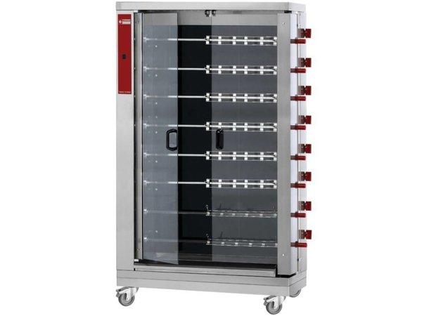 Diamond Huhn Grill Vitrokeramischer - 8 Spits - 1098x480xh1920mm - 38,4kW