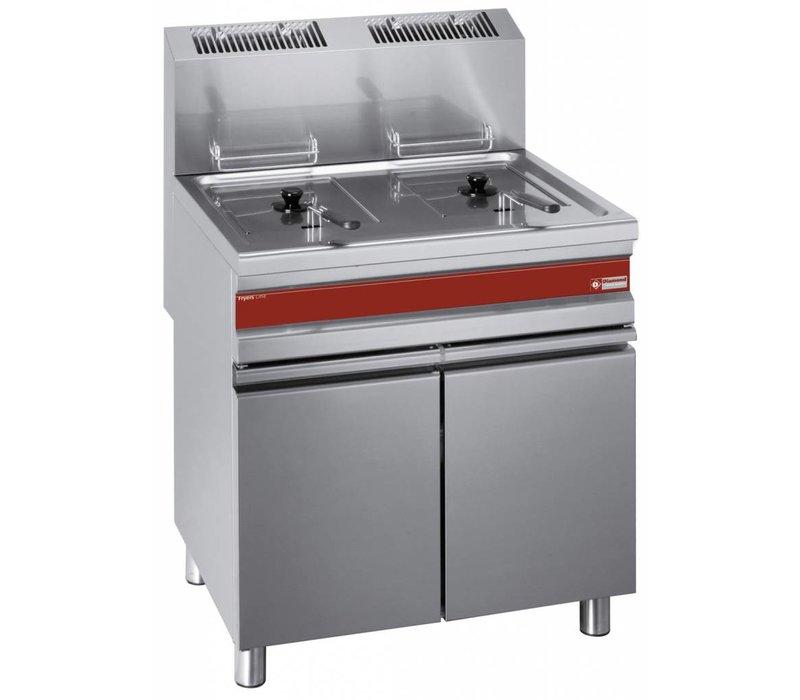 Diamond fryer | gas | 2x15 liters | With Mount | 75x65x (h) 84 / 101cm