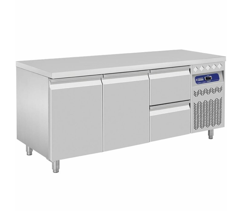 Diamond Cool Workbench - 2 drawers + 2 doors - 175,5x70x (h) 85 / 90cm - European