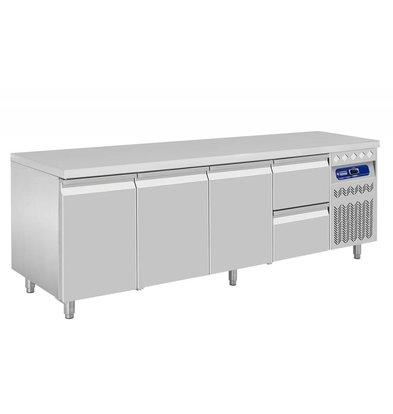 Diamond Kühle Workbench - zwei Schubladen 3 Doors - 219x70x (h) 85 / 90cm - 550 Liter - DELUXE