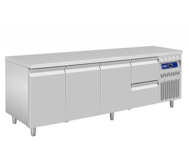 Diamond Cool Workbench - two drawers 3 Doors - 219x70x (h) 85 / 90cm - 550 Liter - DELUXE