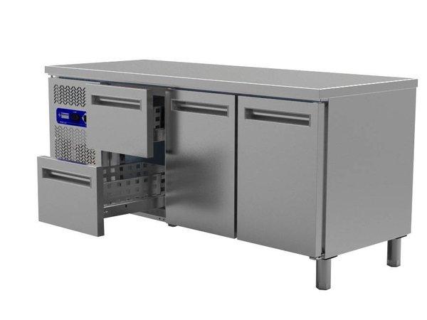 Diamond Cool Workbench - Doors 2 + 2 drawers - 200x60x (h) 88cm - 395 liter
