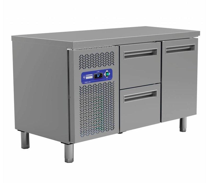Diamond Cool Workbench - 2 drawers + 1 door - 135x70x (h) 88 / 90cm - 260 Liter