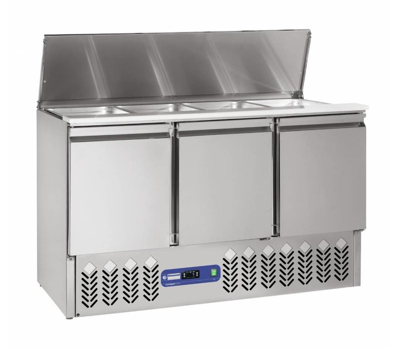 Diamond Saladette - 380 liters - 4x1 / 1GN - 136x70x (h) 85 / 118cm