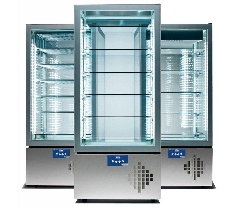 Diamond Koelvitrine Deluxe 5 niveaus 490 Liter -15 / -25 graden - 80x65x184cm - made in Italy