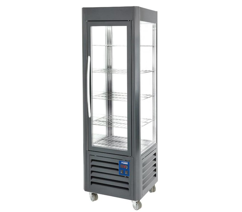 Diamond Refrigerated display case - Anthracite - 360 liters - 5 Schedules and Wheels - 60x63x (h) 185cm