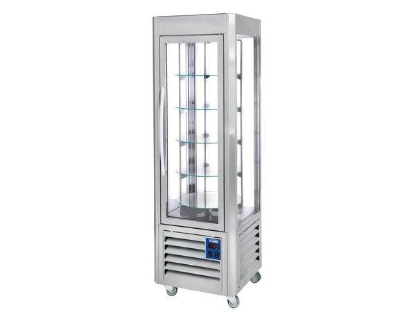 Diamond Refrigerated showcase 360 ​​Liter - Stainless Steel - 60x63x (h) 185cm - 5 Levels Running