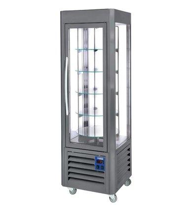 Diamond Kühlvitrine 360 Liter - fünf Niveaus läuft - Anthrazit - 60x63x (h) 185cm