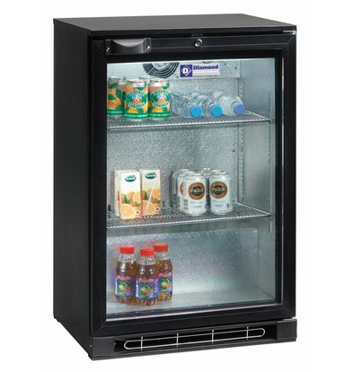 Diamond Bottle cooler 1 Deurs | Lighting | 124 Liter | 600x520x (H) 900mm